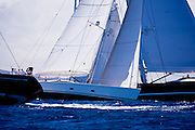 Lady B, Kokomo and Zefiro sailing in the Caribbean Superyacht Regatta and Rendezvous, race 1.