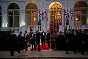 Mandarin Oriental Hyde Park, Gala pre-royal  wedding dinner held at the Mandarin Oriental Hyde Park. LONDON.  on April 28-DO NOT ARCHIVE-© Copyright Photograph by Dafydd Jones. 248 Clapham Rd. London SW9 0PZ. Tel 0207 820 0771. www.dafjones.com.