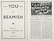 All Ireland Senior Hurling Championship Final, .Brochures,.05.09.1943, 09.05.1943, 5th September 1943, .Antrim 0-4, Cork 5-16,.Minor Dublin v Kilkenny, .Senior Antrim v Cork, .Croke Park, ..Advertisements, Beamish,..Articles, Cork's Place in G.A.A. History,
