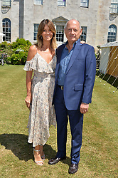 Ron Dennis and his wife at the Cartier Style et Luxe at the Goodwood Festival of Speed, Goodwood, West Sussex, England. 2 July 2017.<br /> Photo by Dominic O'Neill/SilverHub 0203 174 1069 sales@silverhubmedia.com