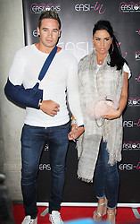 © London News Pictures. Kieran Hayler and Katie Price arriving at the Easilocks VIP launch, Sanctum Soho Hotel London UK, 09 July 2013. Katie Price today announced on Twitter that she is to divorce Kieran Hayler, her third husband.Photo credit: Richard Goldschmidt/LNP