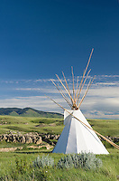 Tepee near visitor's center, Writing on Stone Provincial Park Alberta Canada