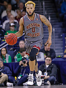 SOUTH BEND, IN - JANUARY 12: Ky Bowman #0 of the Boston College Eagles brings the ball up court during the game against the Notre Dame Fighting Irish at Purcell Pavilion on January 12, 2019 in South Bend, Indiana. (Photo by Michael Hickey/Getty Images) *** Local Caption *** Ky Bowman