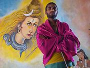 Priest at Eastdale Division, Hindu temple. Nanu Oya.