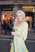 EMERALD FENNELL, Vogue's Fashion night out special opening of the Halcyon Gallery.  New Bond St. London. 6 December 2012.