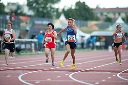 CORSO Oxana, MCLACHLAN Virginia, LIU Ping, WARNER Sophia, ITA, CAN, CHN, GBR, 100m, T35, 2013 IPC Athletics World Championships, Lyon, France