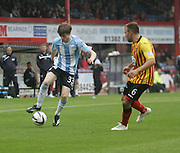 Dundee's Craig Wighton and Partick Thistle's Conrad Balatoni - Dundee v Partick Thistle, SPFL Premiership at Dens Park<br /> <br />  - &copy; David Young - www.davidyoungphoto.co.uk - email: davidyoungphoto@gmail.com