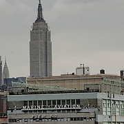The Pier 57 and the Empire State Building.