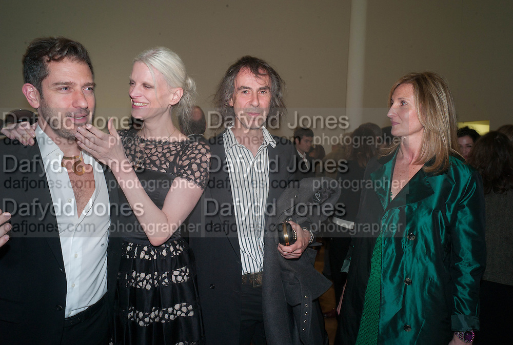 SANDY ROWER; ( CALDER'S GRANDSON) KRISTEN MCMENAMY; IVOR BRAKA; SUSAN DUNNE, Calder After The War. Pace London. Burlington Gdns. London. 18 April 2013.