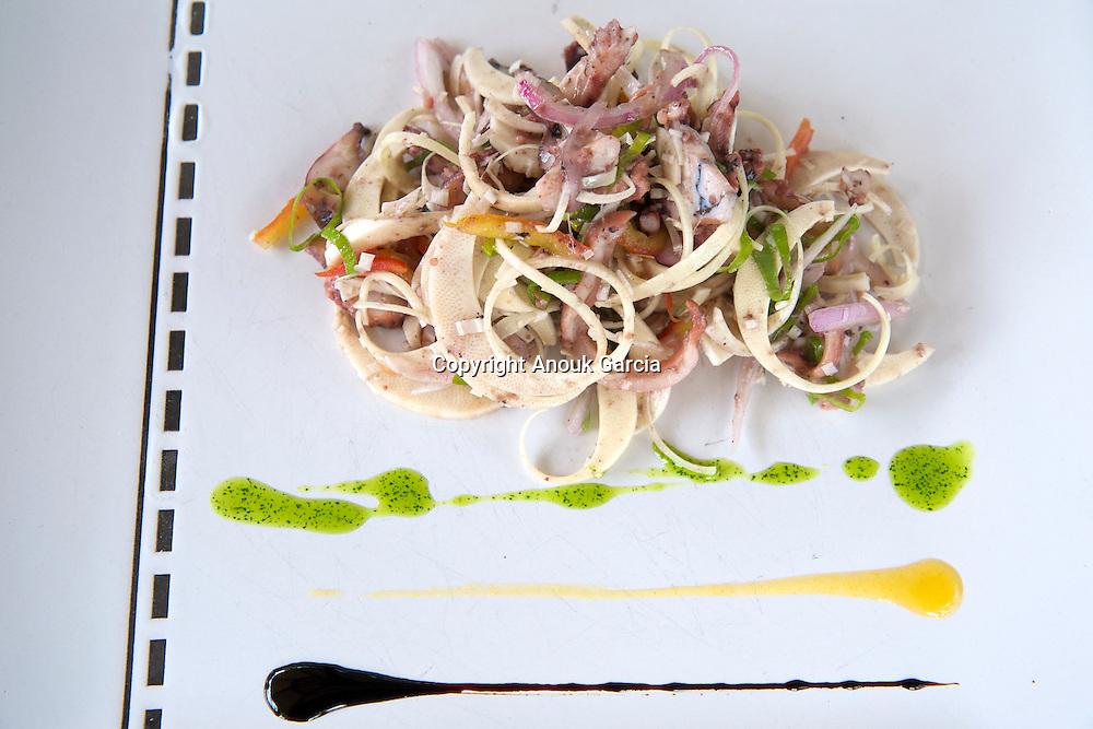Lakaz Chamarel Exclusive Lodge. Palmist heart salade   Le lodge de Lakaz Chamarel. Salade au coeur de palmier