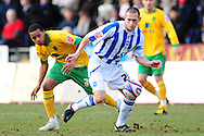 Brighton - Saturday 13th February, 2010: Andrew Crofts of Brighton & Hove Albion and Korey Smith of Norwich City during the Coca Cola League One match at The Withdean, Brighton...(Pic by Alex Broadway/Focus Images)