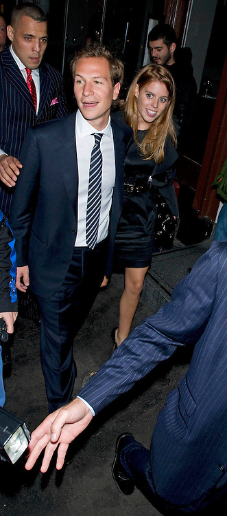 04.OCTOBER.2011. LONDON<br /> <br /> PRINCESS BEATRICE WITH BOYFRIEND DAVE CLARK ATTENDED THE TONY BENNETT PERFORMANCE AND PARTY  SHOW AT RONNIE SCOTTS JAZZ CLUB IN SOHO, LONDON <br /> <br /> BYLINE: EDBIMAGEARCHIVE.COM<br /> <br /> *THIS IMAGE IS STRICTLY FOR UK NEWSPAPERS AND MAGAZINES ONLY*<br /> *FOR WORLD WIDE SALES AND WEB USE PLEASE CONTACT EDBIMAGEARCHIVE - 0208 954 5968*