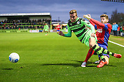 Forest Green Rovers Elliott Frear(11) gets tackled during the Vanarama National League match between Forest Green Rovers and Aldershot Town at the New Lawn, Forest Green, United Kingdom on 5 November 2016. Photo by Shane Healey.
