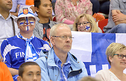 §20150613 NED: World League Nederland - Finland, Almere<br /> Fins support publiek