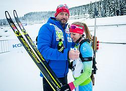 Tomas Kos and Anja Erzen of Slovenia during Slovenian National Cup in Biathlon, on December 30, 2017 in Rudno polje, Pokljuka, Slovenia. Photo by Ziga Zupan / Sportida