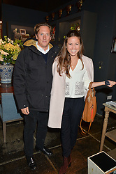 HARRY BECHER and KATE WINSER at a party to celebrate the publication of Flourish by Willow Crossley held at OKA, 155-167 Fulham Rd, London on 4th October 2016.