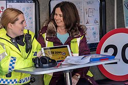 PC Matheson (Inverleith Community Police) and Eileen Hewitt (Council 20MPH Project officer) <br />