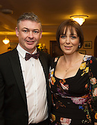 At the SCSI, (Society of Chartered Surveyors Ireland) - Western Region Annual Dinner 2016 in the Ardilaun Hotel Galway were  Tom and Sharon O'Sullivan Purcell Construction . Photo:Andrew Downes, xpousre