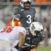 ORLANDO, FL - AUGUST 29: Brandon Wimbush #3 of the UCF Knights is seen during a NCAA football game between the Florida A&M Rattlers and the UCF Knights on August 29 2019 in Orlando, Florida. (Photo by Alex Menendez/Getty Images) *** Local Caption *** Brandon Wimbush