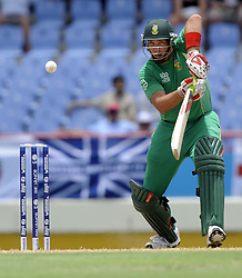 South Africa's Jacques Kallis bats during the Super Eights match at Beausejour Stadium, St Lucia.
