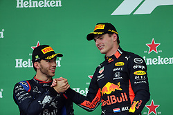 November 17, 2019, Sao Paulo, Brazil: xa9; Photo4 / LaPresse.17/11/2019 Sao Paulo, Brazil.Sport .Grand Prix Formula One Brazil 2019.In the pic: Max Verstappen (NED) Red Bull Racing RB15 and Pierre Gasly (FRA) Scuderia Toro Rosso STR14 (Credit Image: © Photo4/Lapresse via ZUMA Press)