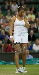 28.06.2011, Wimbledon, London, GBR, WTA Tour, Wimbledon Tennis Championships, im Bild  Tamira Paszek (AUT) druing the Ladies' Singles Quarter-Final match on day eight of the Wimbledon Lawn Tennis Championships at the All England Lawn Tennis and Croquet Club. . EXPA Pictures © 2011, PhotoCredit: EXPA/ Propaganda/ David Rawcliffe +++++ ATTENTION - OUT OF ENGLAND/UK +++++ // SPORTIDA PHOTO AGENCY