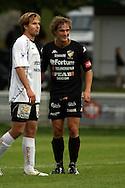 23.08.2008, Tehtaankentt?, Valkeakoski, Finland..Veikkausliiga 2008 - Finnish League 2008.FC Haka - FC Honka.Toni Lehtinen (Haka) & Ville Jalasto (Honka).©Juha Tamminen.....ARK:k