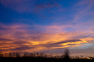 clouds in an autumn sunset sky