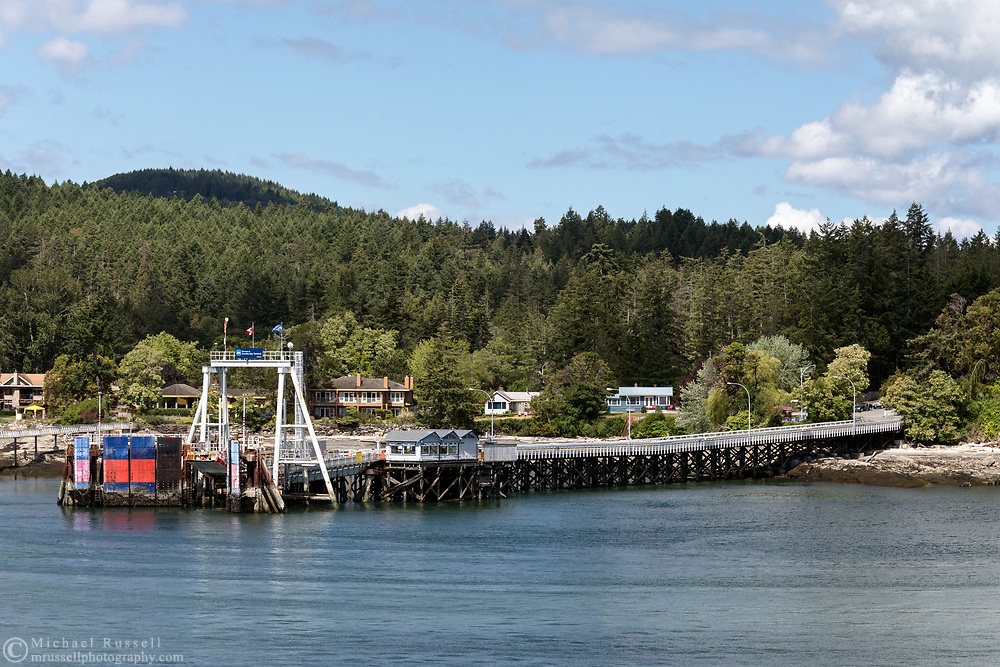 The Sturdies Bay Ferry Terminal on Galiano Island, British Columbia, Canada.
