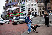 A street scene from the corner of High and Broad Street in Columbus, Ohio on Thursday, February 24, 2011.