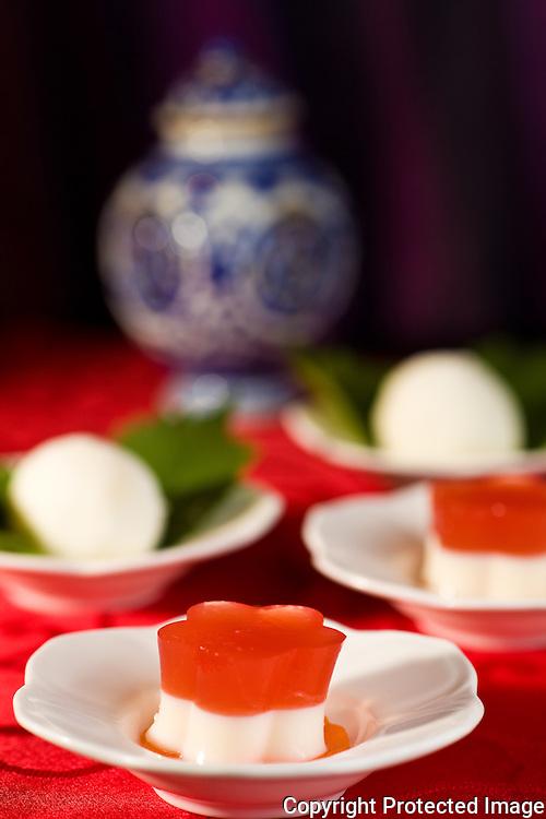 Zi Fei: dessert, persimmon jelly