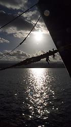 Sunset over harbour/dock Las Palmas Canary Islands