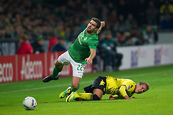 14.10.2011, Weser Stadion, Bremen, GER, 1.FBL, Werder Bremen vs Borussia Dortmund, im Bild.Mario Götze (Dortmund #11) foult Sokratis (Bremen #22).// during the Match GER, 1.FBL, Werder Bremen vs Borussia Dortmund on 2011/10/14,  Weser Stadion, Bremen, Germany..EXPA Pictures © 2011, PhotoCredit: EXPA/ nph/  Kokenge       ****** out of GER / CRO  / BEL ******