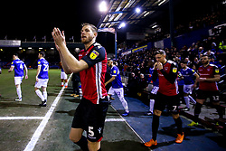 Steven Old of Morecambe - Mandatory by-line: Robbie Stephenson/JMP - 19/02/2019 - FOOTBALL - Boundary Park - Oldham, England - Oldham Athletic v Morecambe - Sky Bet League Two