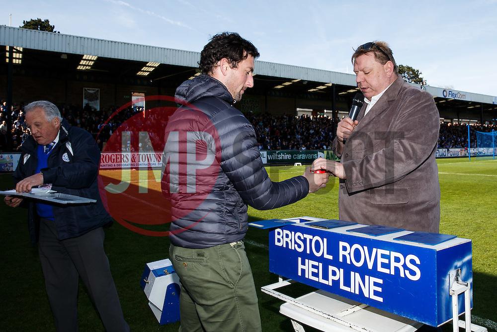 Helpline half time draw - Photo mandatory by-line: Rogan Thomson/JMP - 07966 386802 - 11/04/2015 - SPORT - FOOTBALL - Bristol, England - Memorial Stadium - Bristol Rovers v Southport - Vanarama Conference Premier.