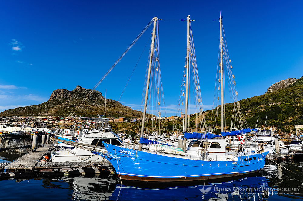Hout Bay a coastal suburb of Cape Town, South Africa.