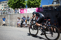 Claudia Lichtenberg (GER) of Wiggle Hi5 Cycling Team reaches the top of the final climb of Stage 5 of the Giro Rosa - a 12.7 km individual time trial, starting and finishing in Sant'Elpido A Mare on July 4, 2017, in Fermo, Italy. (Photo by Balint Hamvas/Velofocus.com)