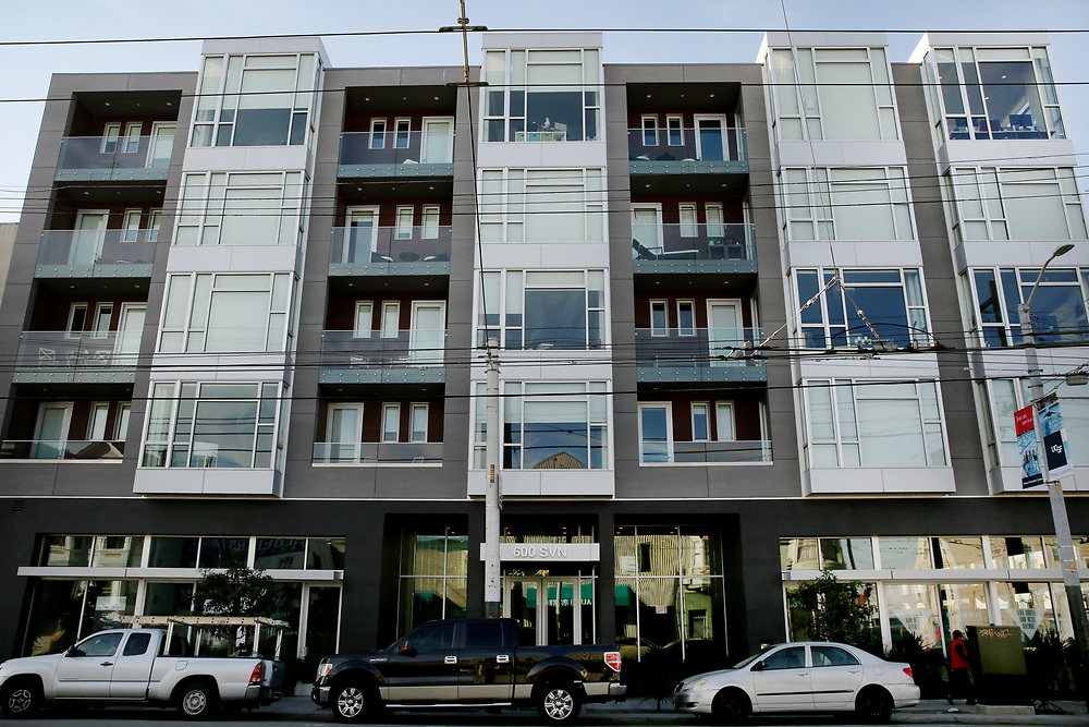 600 South Van Ness Ave. apartments, Wednesday, Dec. 27, 2017, in San Francisco, Calif.