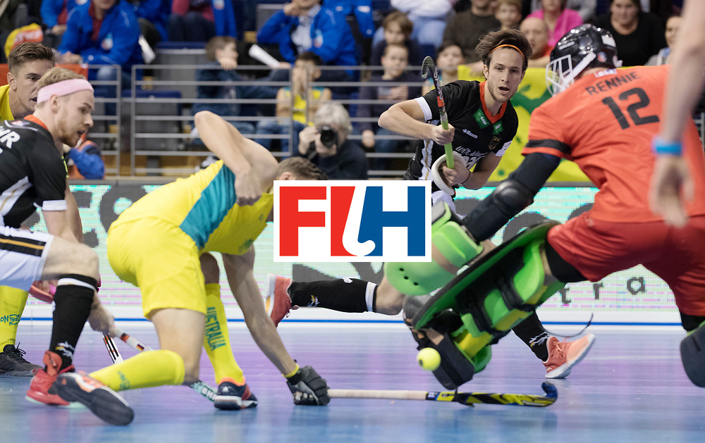 BERLIN - Indoor Hockey World Cup<br /> Men: Germany - Australia<br /> foto: Marco Miltkau.<br /> WORLDSPORTPICS COPYRIGHT FRANK UIJLENBROEK