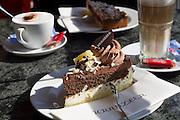 Berlin, Germany. Kurfürstendamm. Café Kranzler. Kranzlertorte.