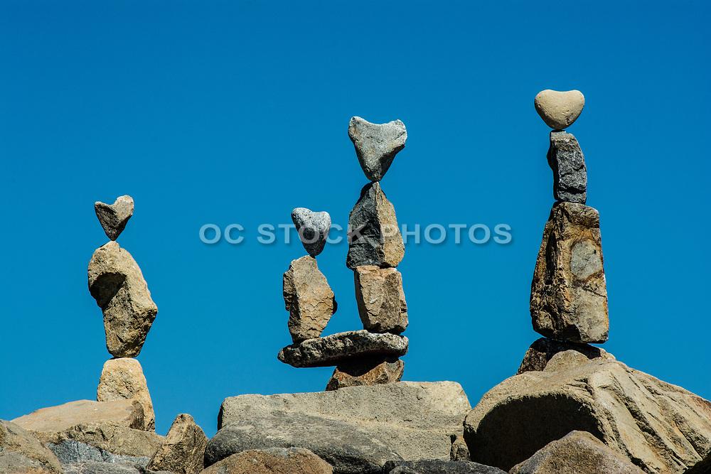 Stacked Heart Rock Sculpture