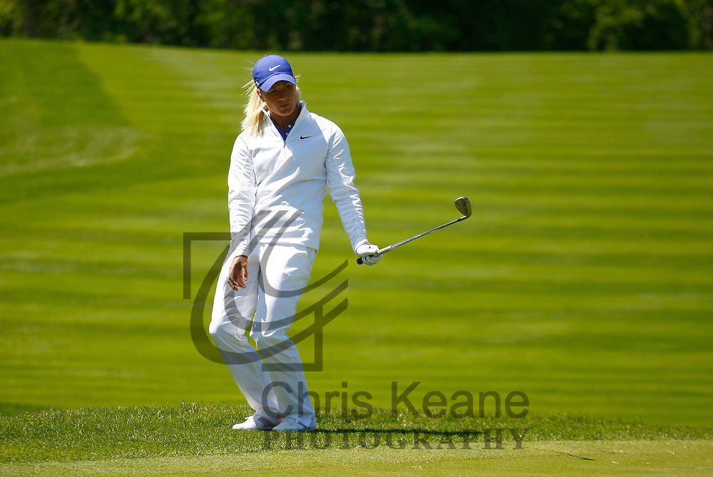 17 May 2012: Suzann Pettersen reacts to her chip shot on the 15th hole during the first round of match play at the Sybase Match Play Championship at Hamilton Farm Golf Club in Gladstone, New Jersey on May 17, 2012.  (Photo by Chris Keane - www.chriskeane.com)