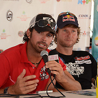 Wim Eelens in the press conference about Hi Winds 2011. International Competition windsurfing and kite surfing, Aruba Hi Winds 2011. Aruba, June 29-July 4, 2011.  Aruba. Jimmy Villalta & Valentina Calatrava