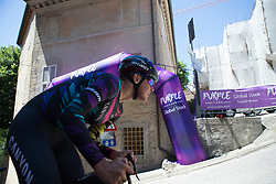 Barbara Guarischi (ITA) of CANYON//SRAM Racing rides near the top of the final climb of Stage 5 of the Giro Rosa - a 12.7 km individual time trial, starting and finishing in Sant'Elpido A Mare on July 4, 2017, in Fermo, Italy. (Photo by Balint Hamvas/Velofocus.com)
