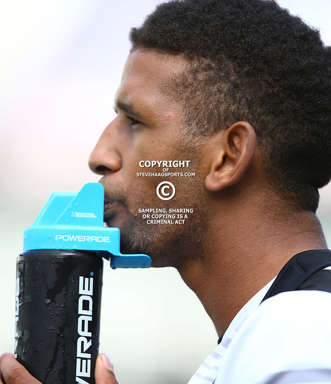 DURBAN, SOUTH AFRICA, 22,MARCH, 2016 - Hyron Andrews during The Cell C Sharks training session  at Growthpoint Kings Park in Durban, South Africa. (Photo by Steve Haag)<br /> <br /> images for social media must have consent from Steve Haag