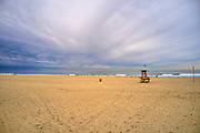 Lifeguard Tower Sitting on the Sand in Newport Beach