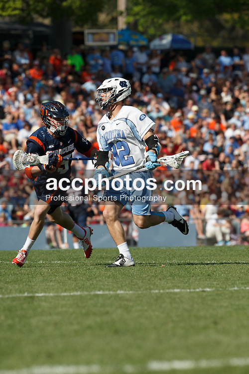 CHAPEL HILL, NC - APRIL 11: Duncan Hutchins #32 of the North Carolina Tar Heels plays against the Syracuse Orange on April 11, 2015 at Fetzer Field in Chapel Hill, North Carolina. North Carolina won 17-15. (Photo by Peyton Williams/US Lacrosse/Getty Images) *** Local Caption *** Duncan Hutchins