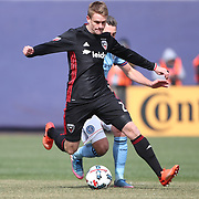 NEW YORK, NEW YORK - March 12:  Taylor Kemp #2 of D.C. United in action during the NYCFC Vs D.C. United regular season MLS game at Yankee Stadium on March 12, 2017 in New York City. (Photo by Tim Clayton/Corbis via Getty Images)