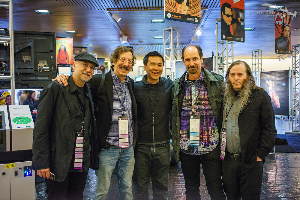 Holy rarified photography space! Doug Menuez, Rick Smolan, me, Tom Gruber and Stephen Berkman