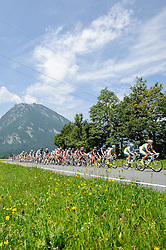 07.07.2011, AUT, 63. OESTERREICH RUNDFAHRT, 5. ETAPPE, ST. JOHANN-SCHLADMING, im Bild das Feld der Fahrer nach der Bergwertung Pass Lueg // during the 63rd Tour of Austria, Stage 5, 2011/07/07, EXPA Pictures © 2011, PhotoCredit: EXPA/ S. Zangrando